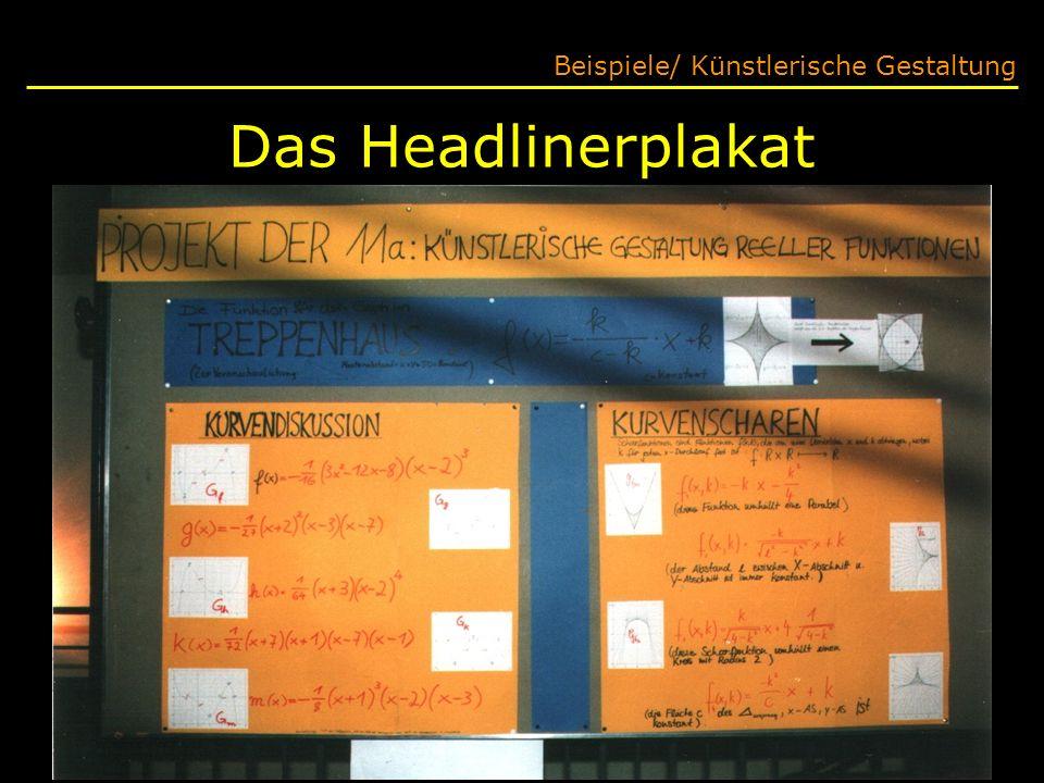 Das Headlinerplakat Beispiele/ Künstlerische Gestaltung