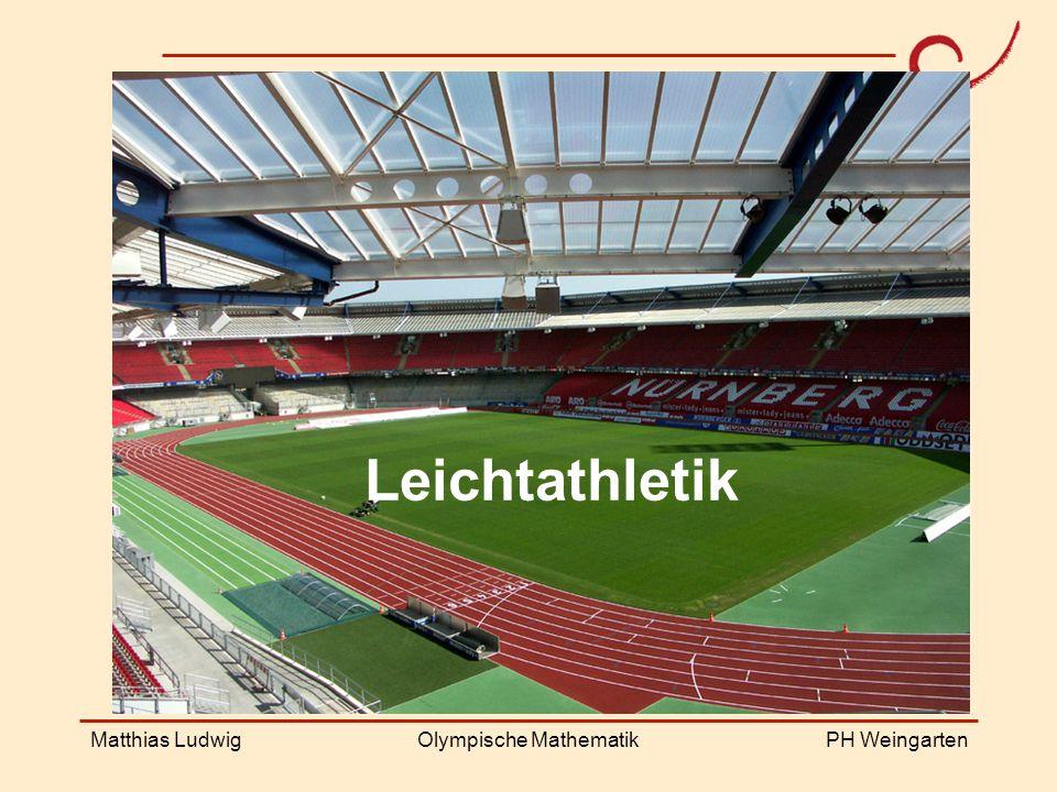 PH Weingarten Matthias LudwigOlympische Mathematik Leichtathletik
