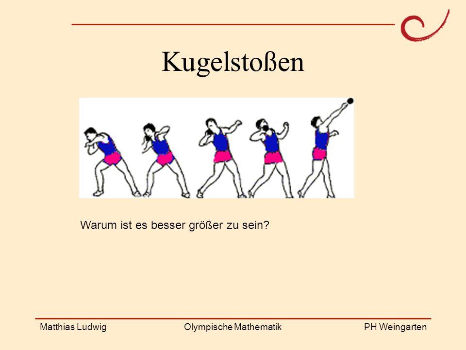 PH Weingarten Matthias LudwigOlympische Mathematik Kugelstoßen Warum ist es besser größer zu sein?