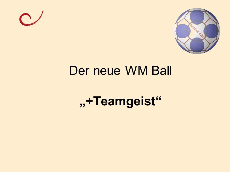 Der neue WM Ball +Teamgeist