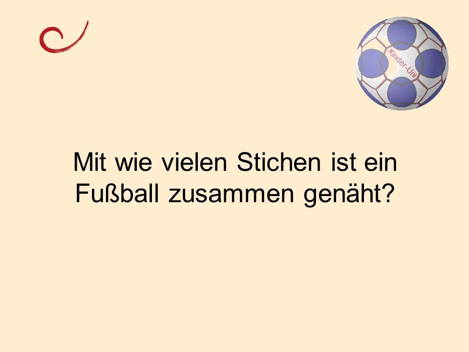 Preisfrage: Aus wie vielen Vierecken und Dreiecken besteht der Kinder- Uni-Fußball?