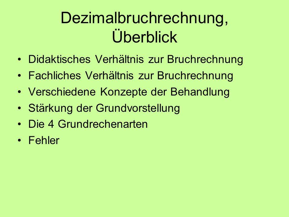 Didaktisches Verhältnis Bruchrechnung- Dezimalbruchrechnung Geschichte : Babylonier (Stellenwertsystem) Sun Tzu (300 n.