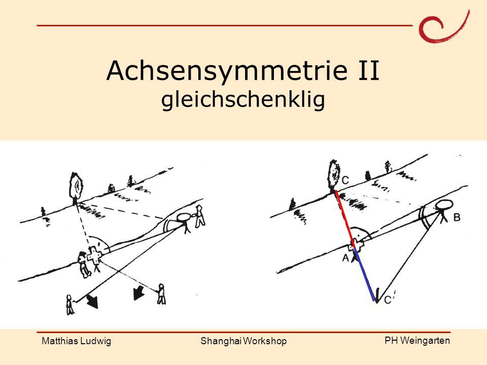 PH Weingarten Matthias LudwigShanghai Workshop Achsensymmetrie II gleichschenklig