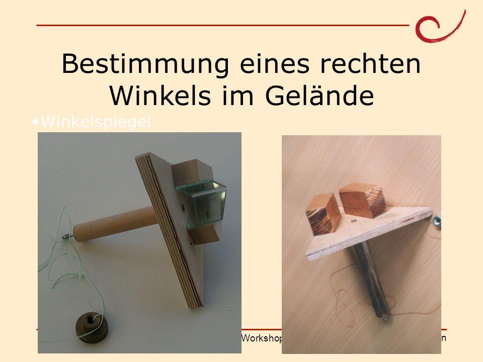 PH Weingarten Matthias LudwigShanghai Workshop Winkelspiegel Bestimmung eines rechten Winkels im Gelände
