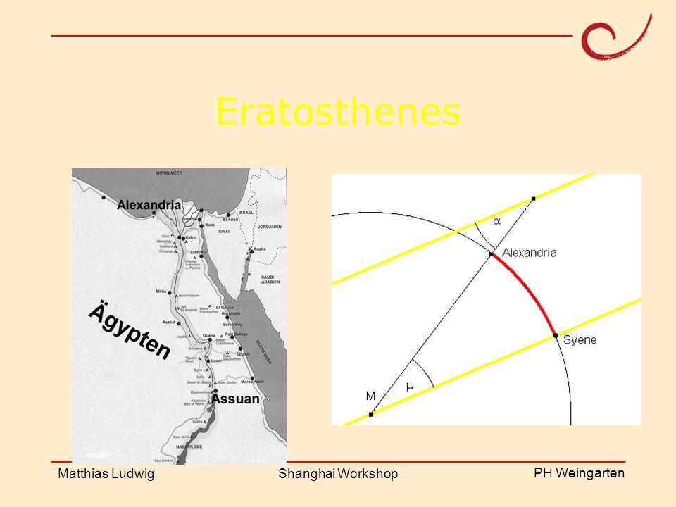PH Weingarten Matthias LudwigShanghai Workshop Eratosthenes