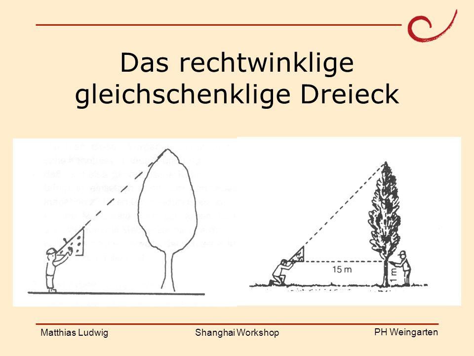 PH Weingarten Matthias LudwigShanghai Workshop Kongruenzsätze SSS-Satz Winkel = SWS-Satz