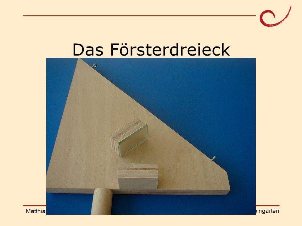 PH Weingarten Matthias LudwigShanghai Workshop Das Försterdreieck