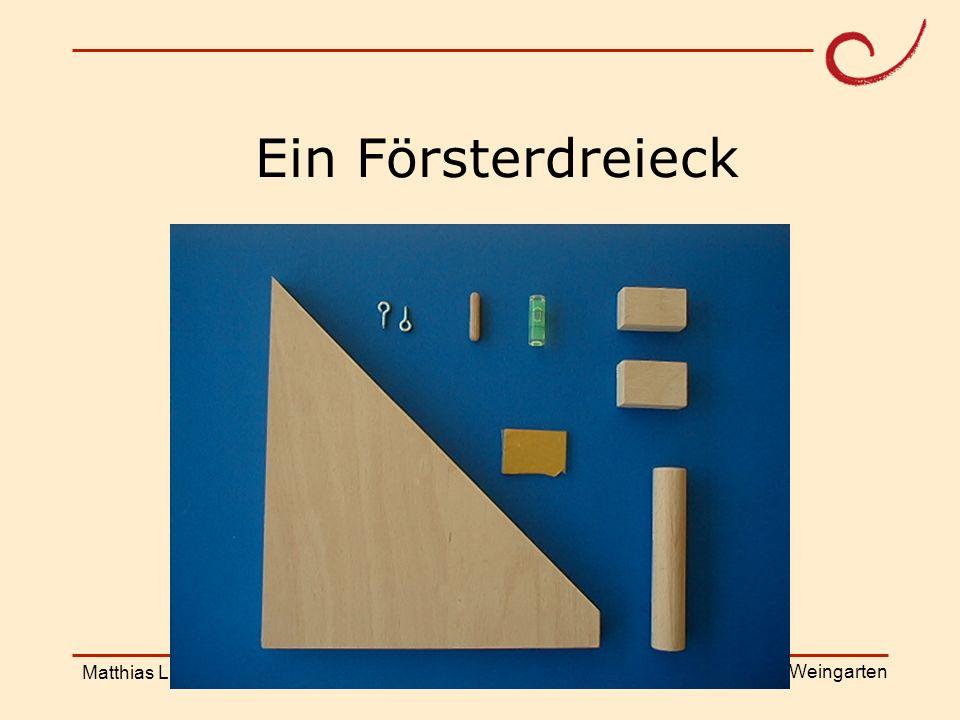 PH Weingarten Matthias LudwigShanghai Workshop Ein Försterdreieck