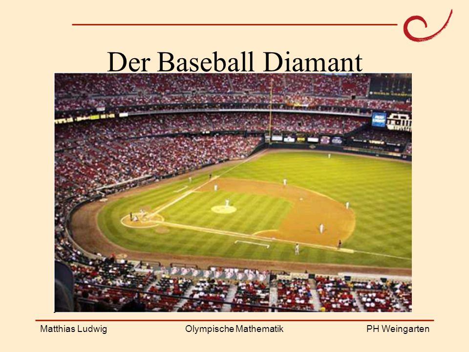 PH Weingarten Matthias LudwigOlympische Mathematik Der Baseball Diamant