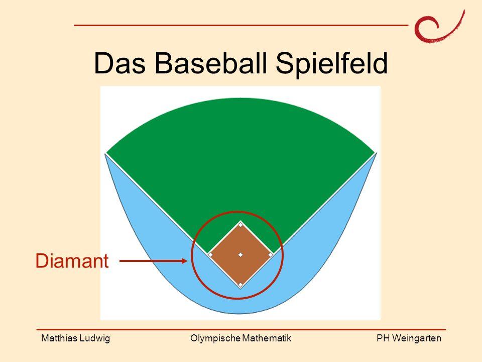 PH Weingarten Matthias LudwigOlympische Mathematik Das Baseball Spielfeld Diamant