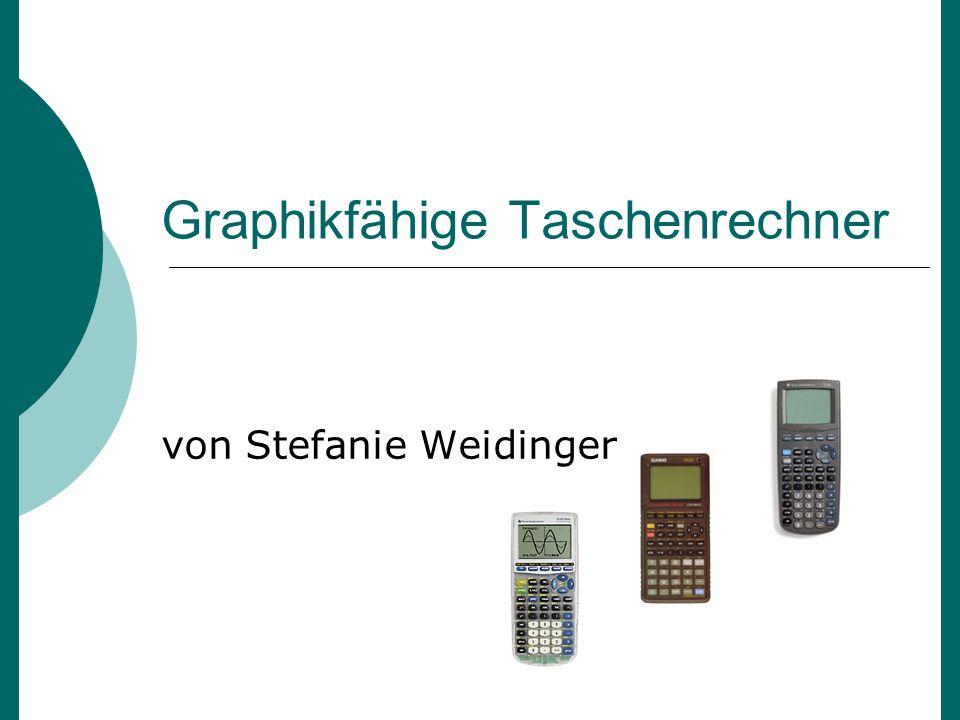 Graphikfähige Taschenrechner von Stefanie Weidinger