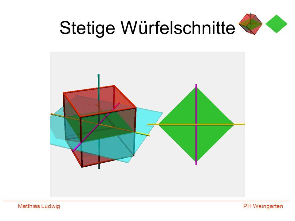 PH Weingarten Matthias Ludwig Stetige Würfelschnitte