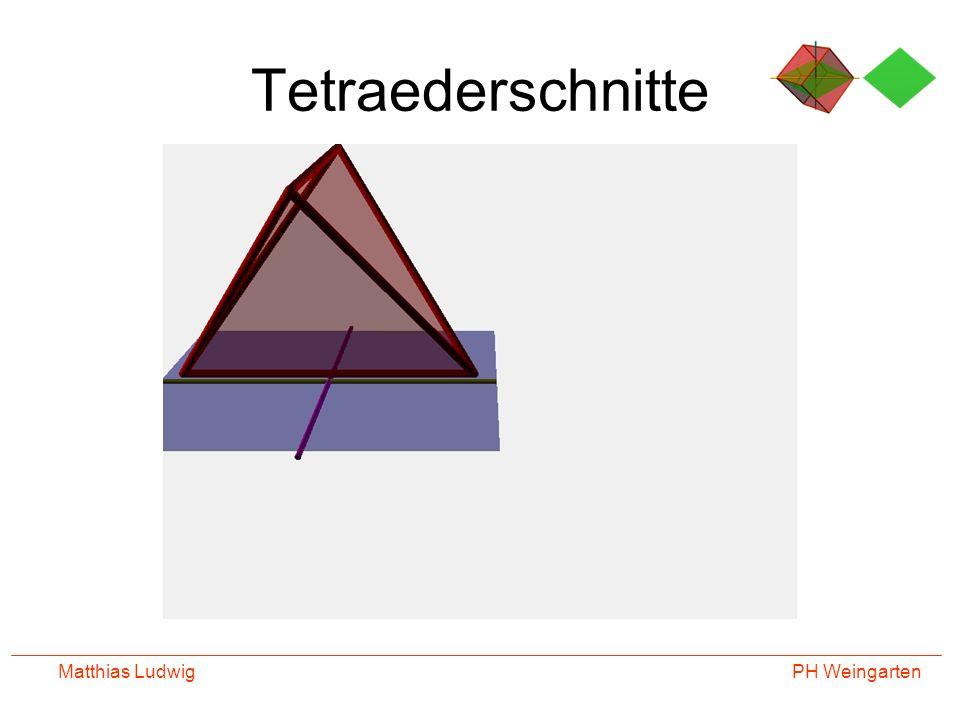 PH Weingarten Matthias Ludwig Tetraederschnitte