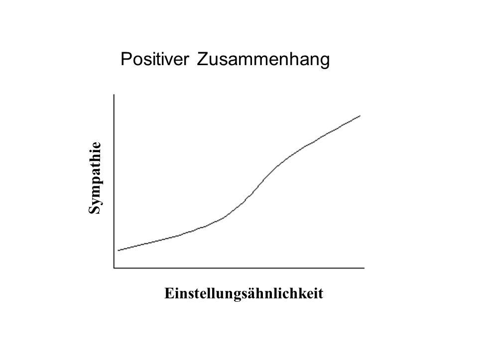 Sympathie Einstellungsähnlichkeit Positiver Zusammenhang