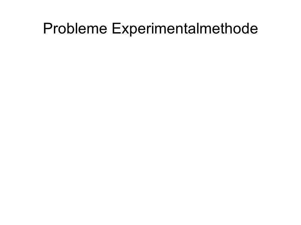 Probleme Experimentalmethode