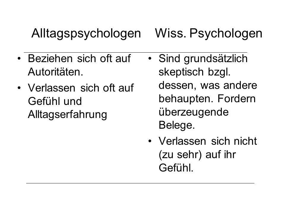 Je-Desto-Hypothesen Typische psychologische Hypothesen –Einstellungsähnlichkeit erhöht die Sympathie.