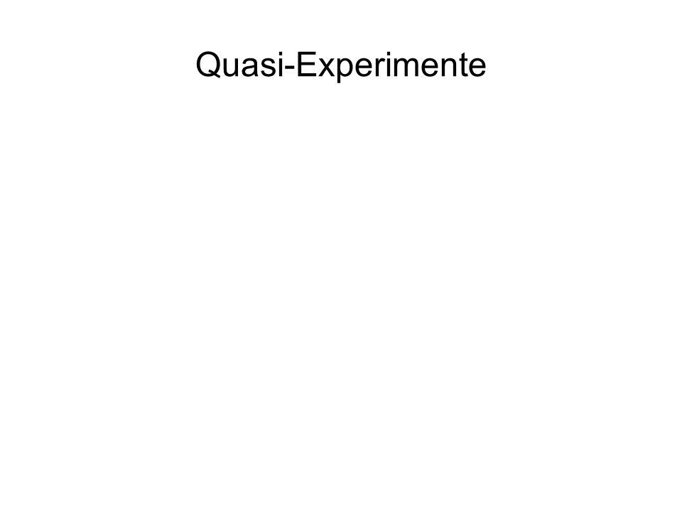 Quasi-Experimente