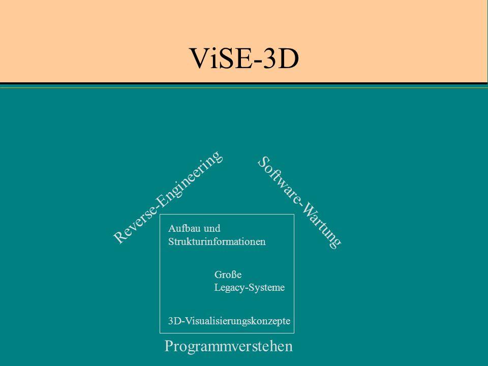 ViSE-3D Reverse-Engineering Software-Wartung Programmverstehen Aufbau und Strukturinformationen Große Legacy-Systeme 3D-Visualisierungskonzepte