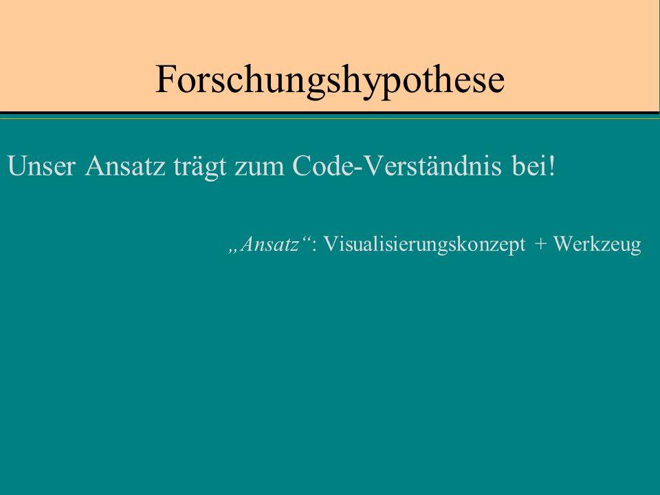 Forschungshypothese Unser Ansatz trägt zum Code-Verständnis bei.