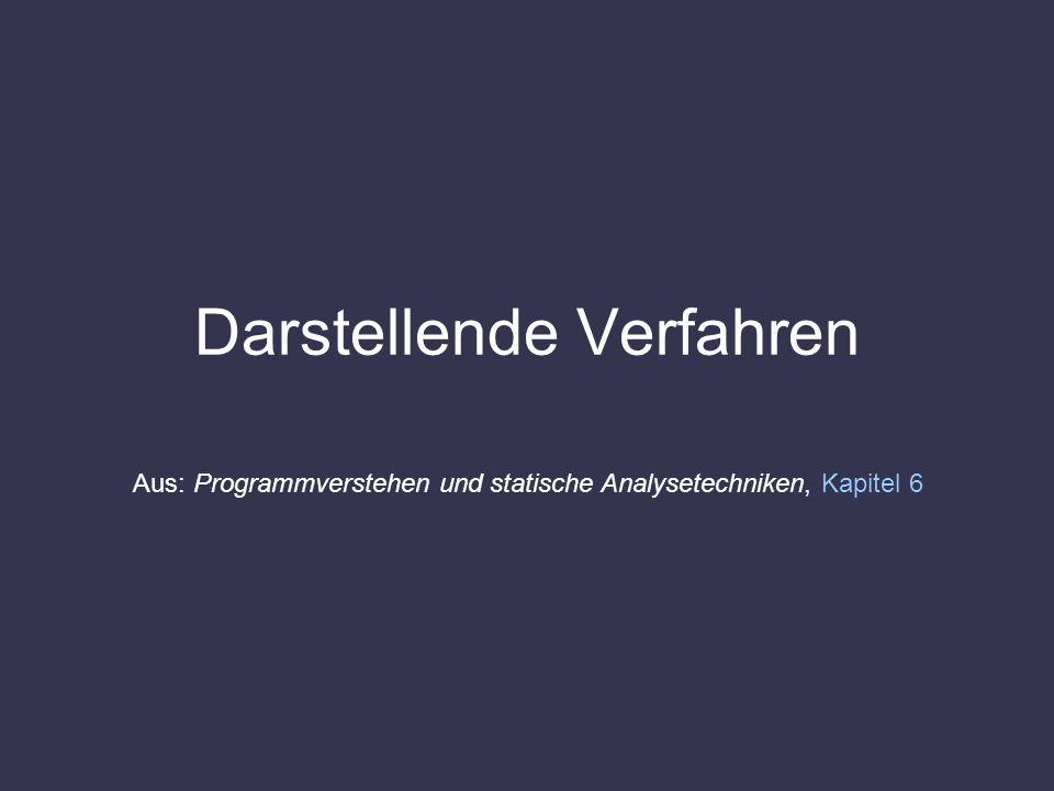 Darstellende Verfahren Aus: Programmverstehen und statische Analysetechniken, Kapitel 6