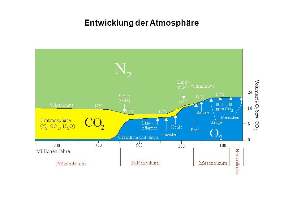 Entwicklung der Atmosphäre