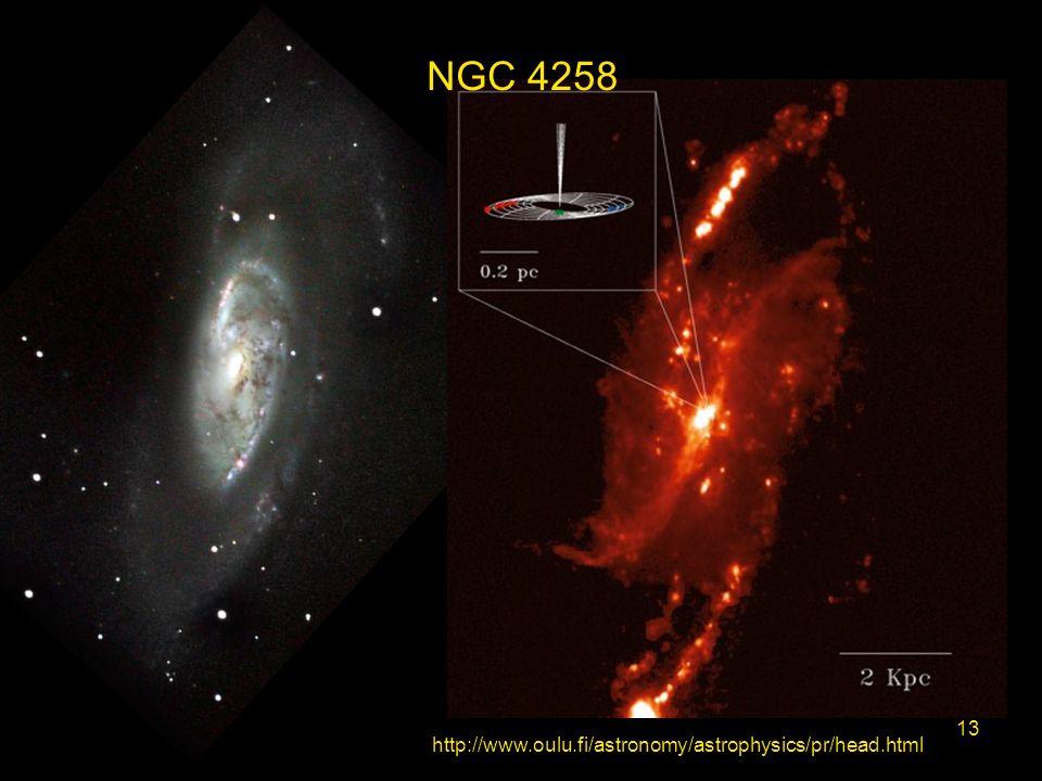 http://www.oulu.fi/astronomy/astrophysics/pr/head.html 13 NGC 4258