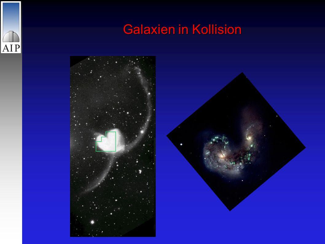 Galaxien in Kollision