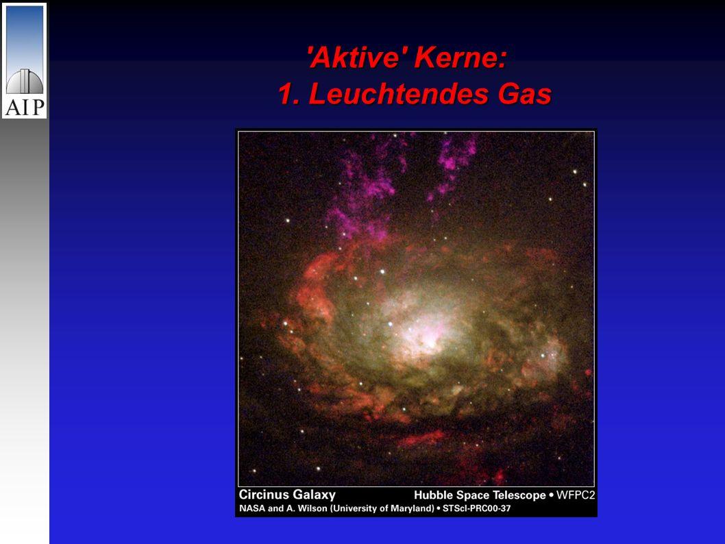Aktive Kerne: 1. Leuchtendes Gas