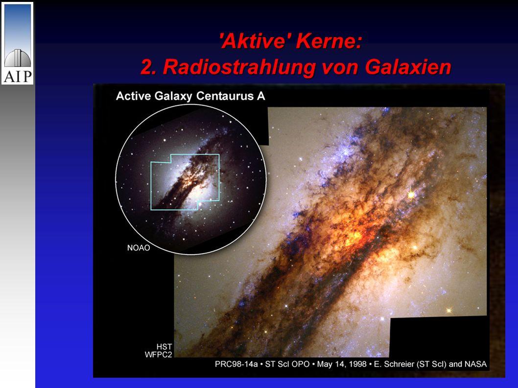 Aktive Kerne: 2. Radiostrahlung von Galaxien