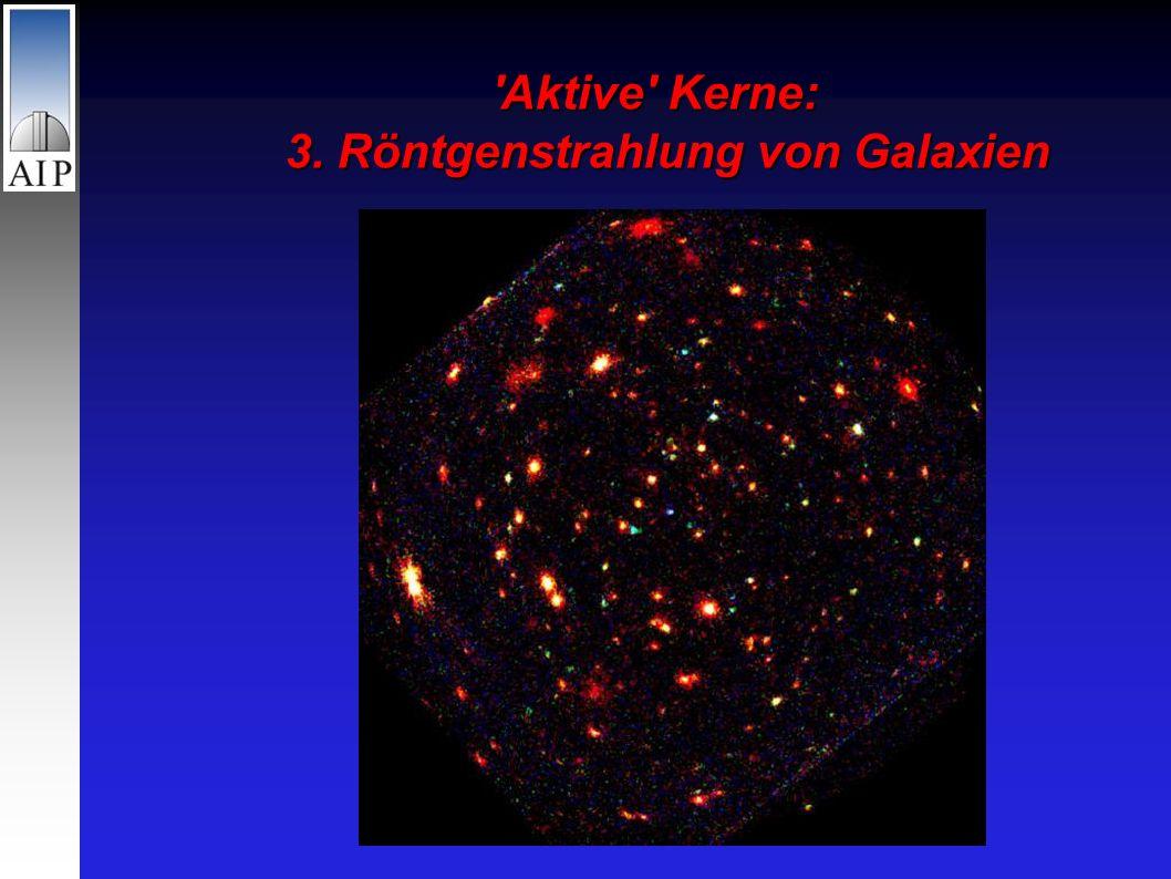 Aktive Kerne: 3. Röntgenstrahlung von Galaxien