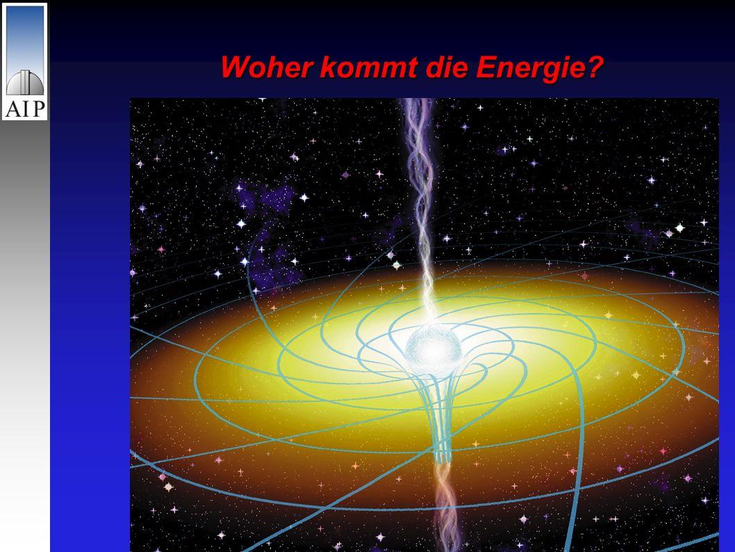 Das Problem: Leuchtkraft = Milliardenfaches der Sonne Durchmesser = Lichtstunden Unmöglich: Kompakter Sternhaufen Theorie: Materie stürzt in riesiges schwarzes Loch im Zentrum der Muttergalaxie Woher kommt die Energie