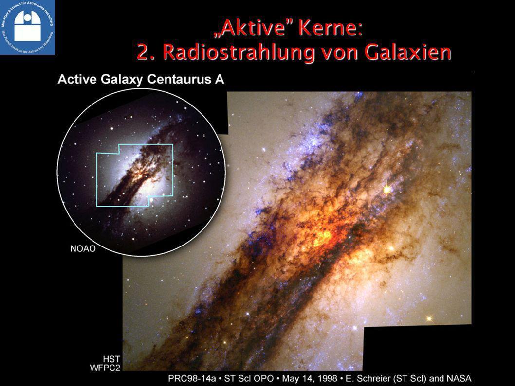 Aktive Kerne: 2. Radiostrahlung von GalaxienAktive Kerne: 2. Radiostrahlung von Galaxien