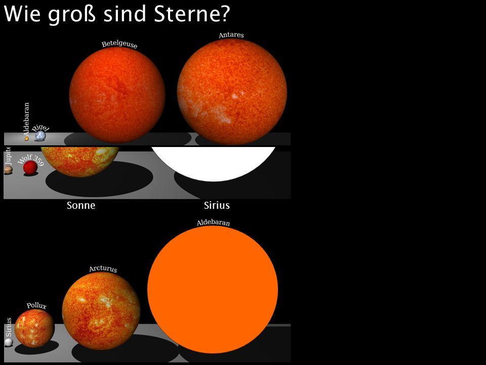 Wie groß sind Sterne? Sonne Sirius