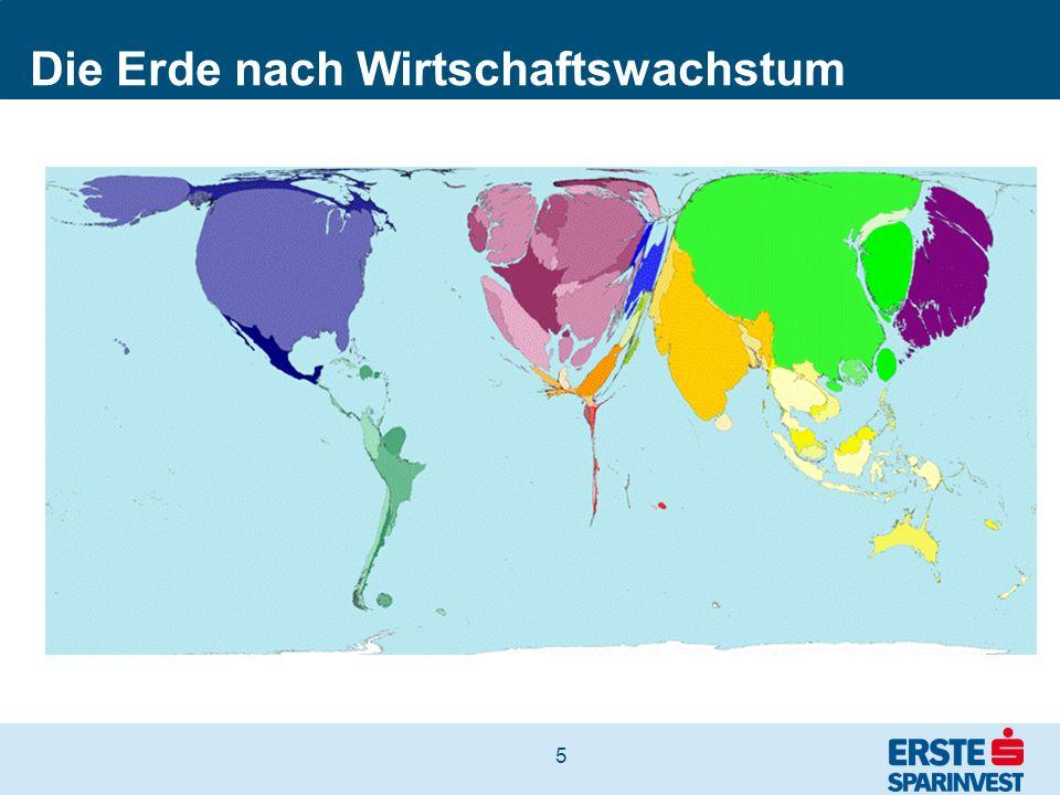 6 Die Erde nach Einwohnerzahl Jahr 2050