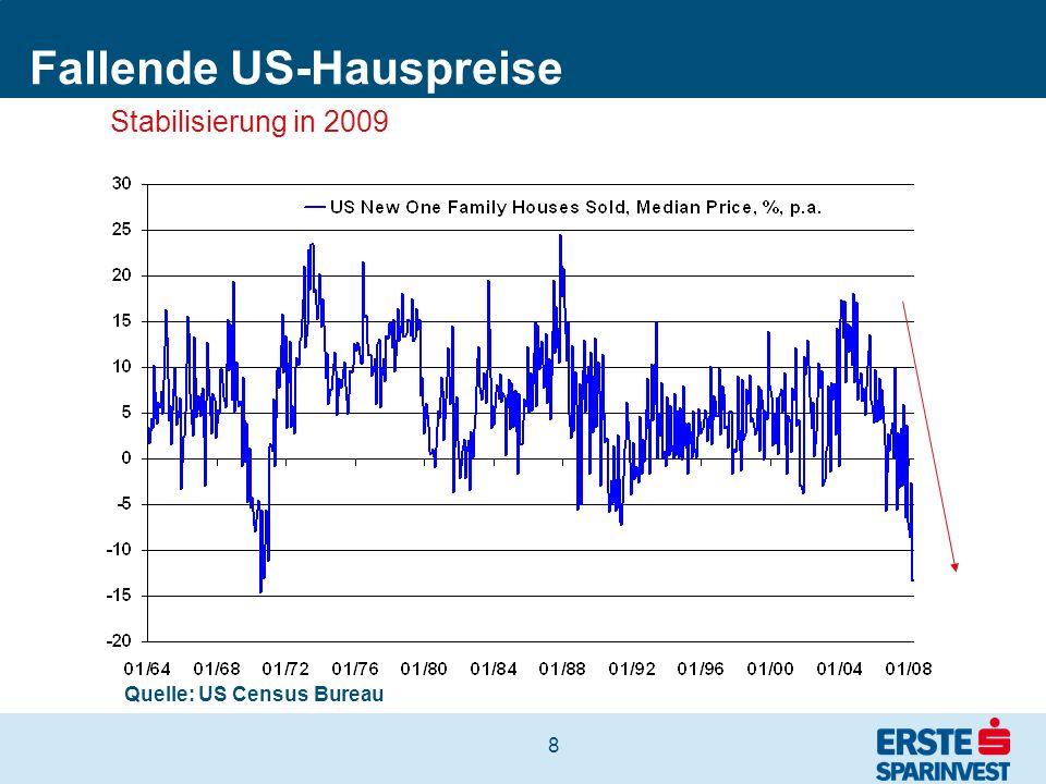 8 Fallende US-Hauspreise Quelle: US Census Bureau Stabilisierung in 2009