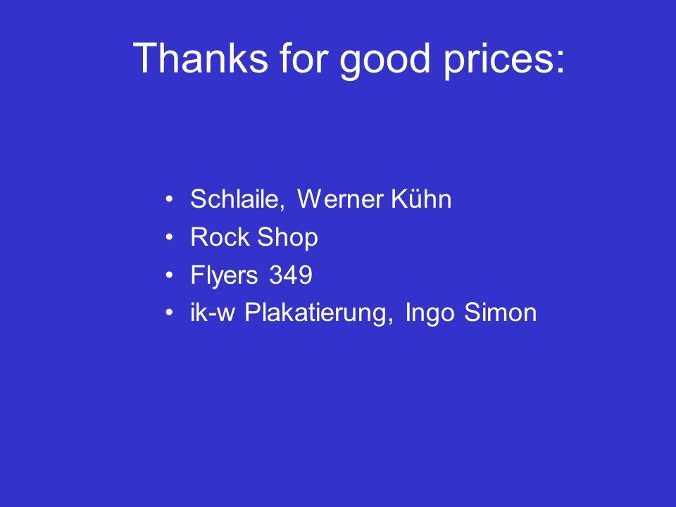 Thanks for good prices: Schlaile, Werner Kühn Rock Shop Flyers 349 ik-w Plakatierung, Ingo Simon