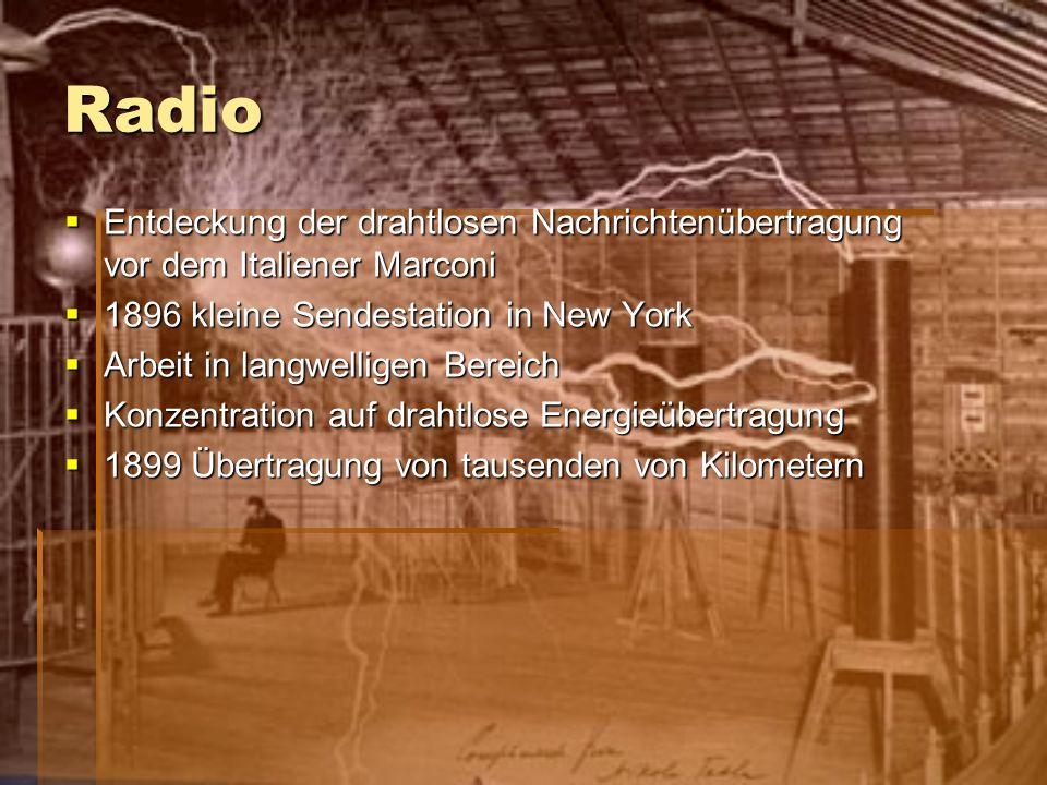 Radio Entdeckung der drahtlosen Nachrichtenübertragung vor dem Italiener Marconi Entdeckung der drahtlosen Nachrichtenübertragung vor dem Italiener Ma