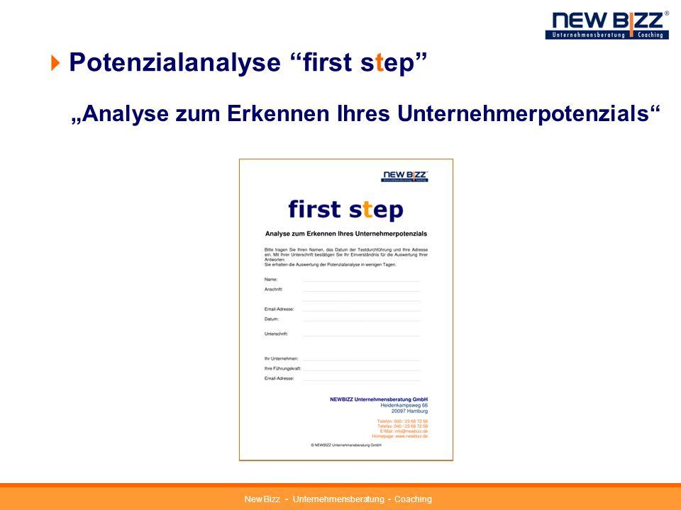 New Bizz Unternehmensberatung Coaching Potenzialanalyse first step in Kooperation mit Universität Koblenz-Landau entwickelt