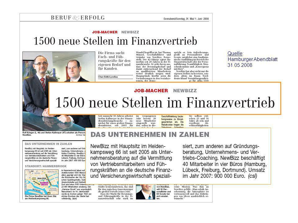 Quelle: Hamburger Abendblatt 31.05.2008