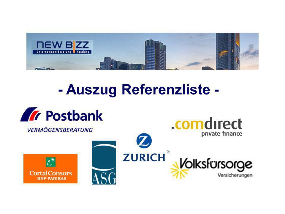 - Auszug Referenzliste -