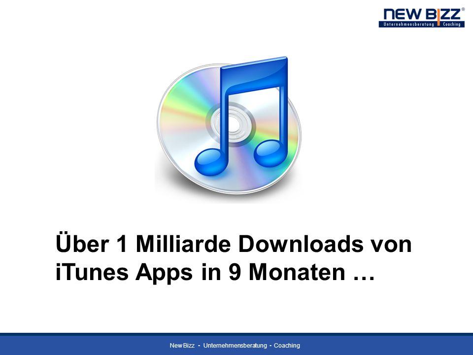 New Bizz Unternehmensberatung Coaching Über 1 Milliarde Downloads von iTunes Apps in 9 Monaten …