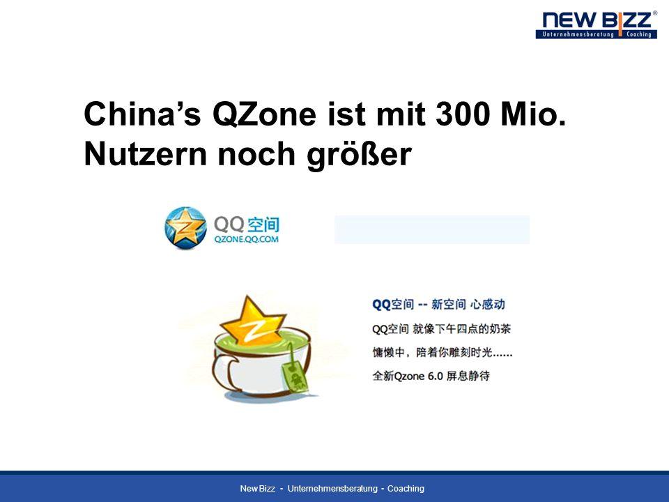 New Bizz Unternehmensberatung Coaching Chinas QZone ist mit 300 Mio. Nutzern noch größer