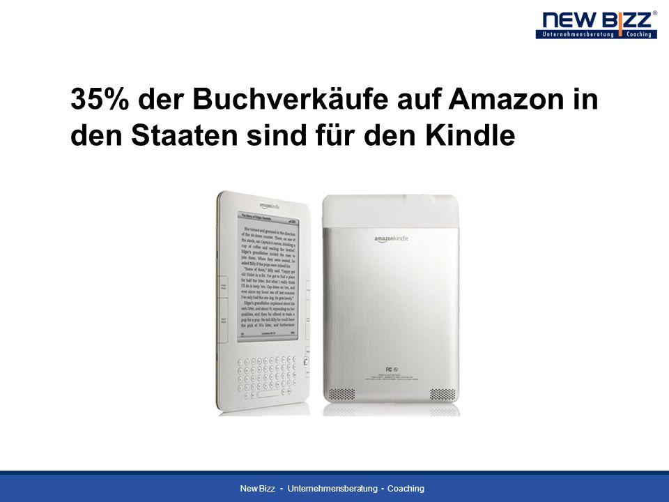 New Bizz Unternehmensberatung Coaching 35% der Buchverkäufe auf Amazon in den Staaten sind für den Kindle