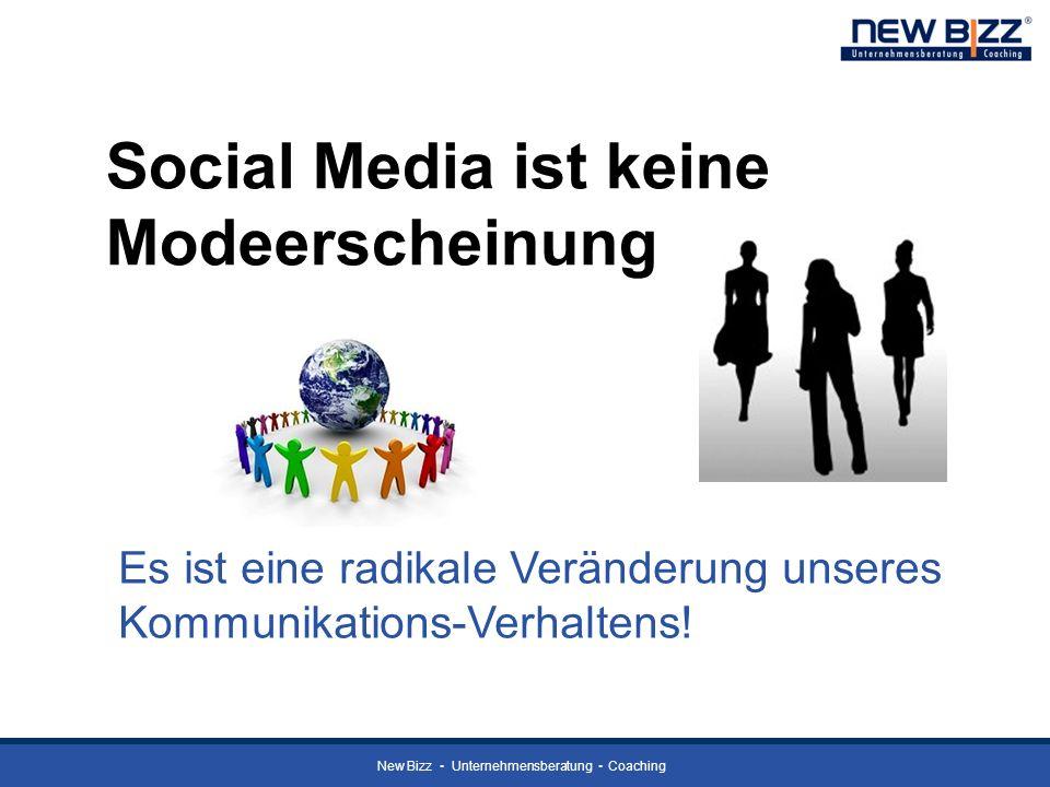 Social Media ist keine Modeerscheinung Es ist eine radikale Veränderung unseres Kommunikations-Verhaltens!