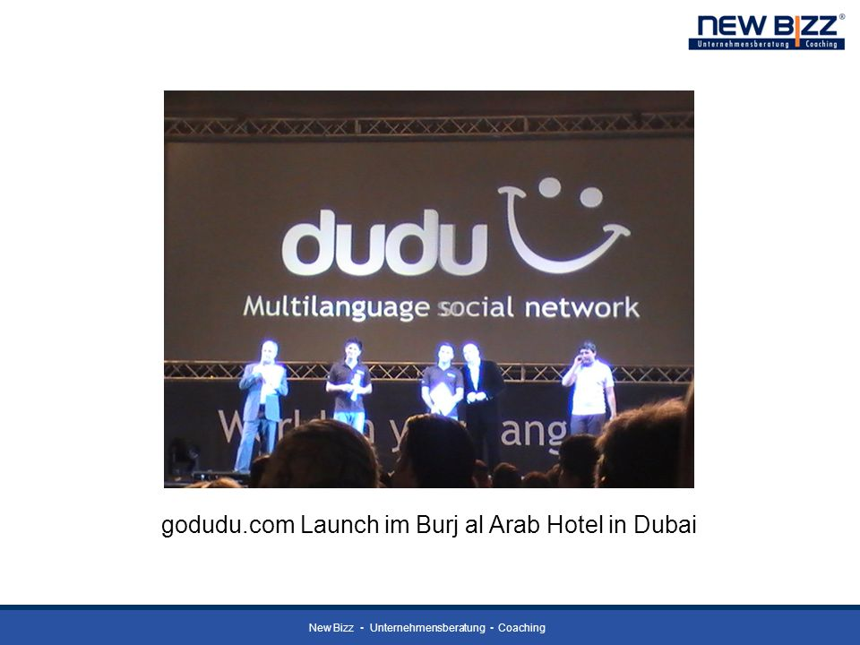 New Bizz Unternehmensberatung Coaching godudu.com Launch im Burj al Arab Hotel in Dubai