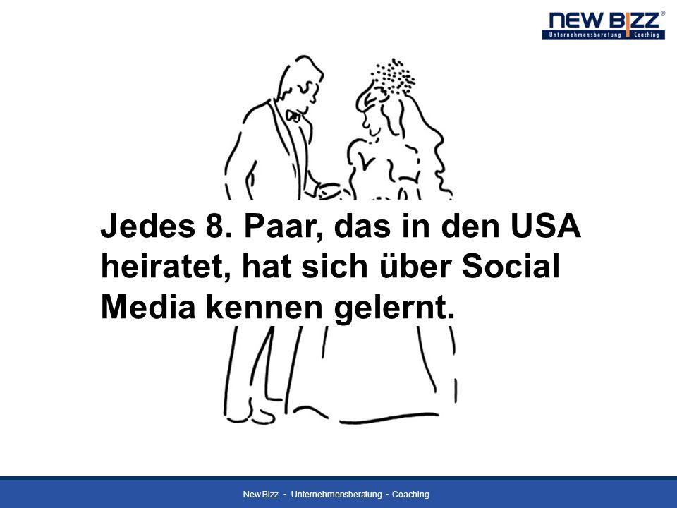 New Bizz Unternehmensberatung Coaching Jedes 8. Paar, das in den USA heiratet, hat sich über Social Media kennen gelernt.