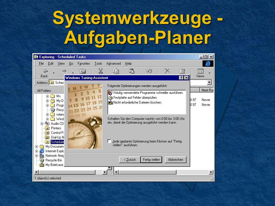 Systemwerkzeuge - Aufgaben-Planer