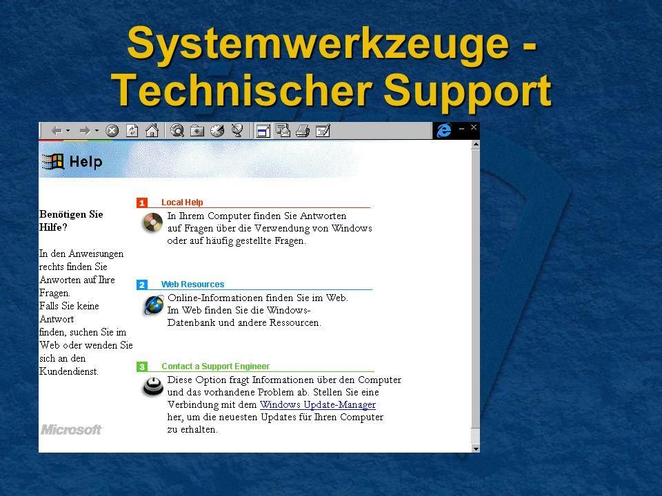 Systemwerkzeuge - Technischer Support