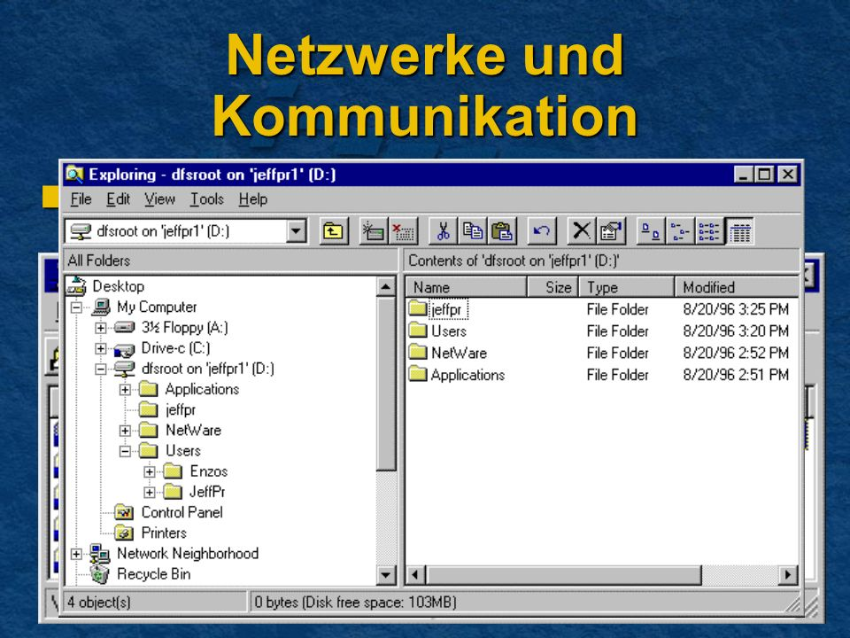 Netzwerke und Kommunikation Dfs (Distributed File System) Dfs (Distributed File System)