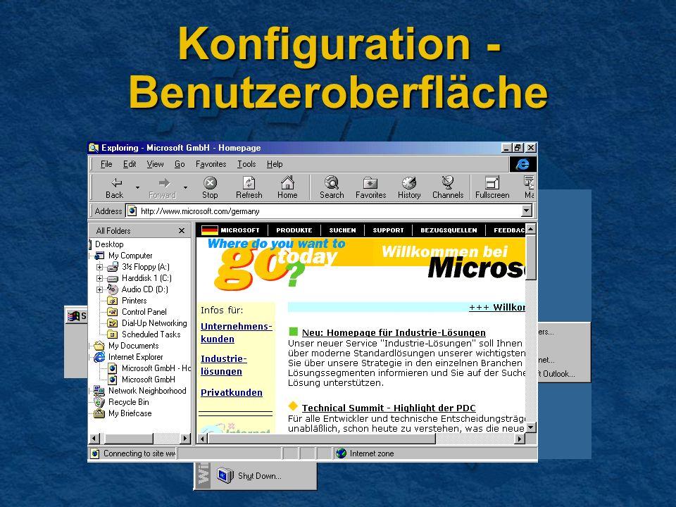 Konfiguration - Benutzeroberfläche